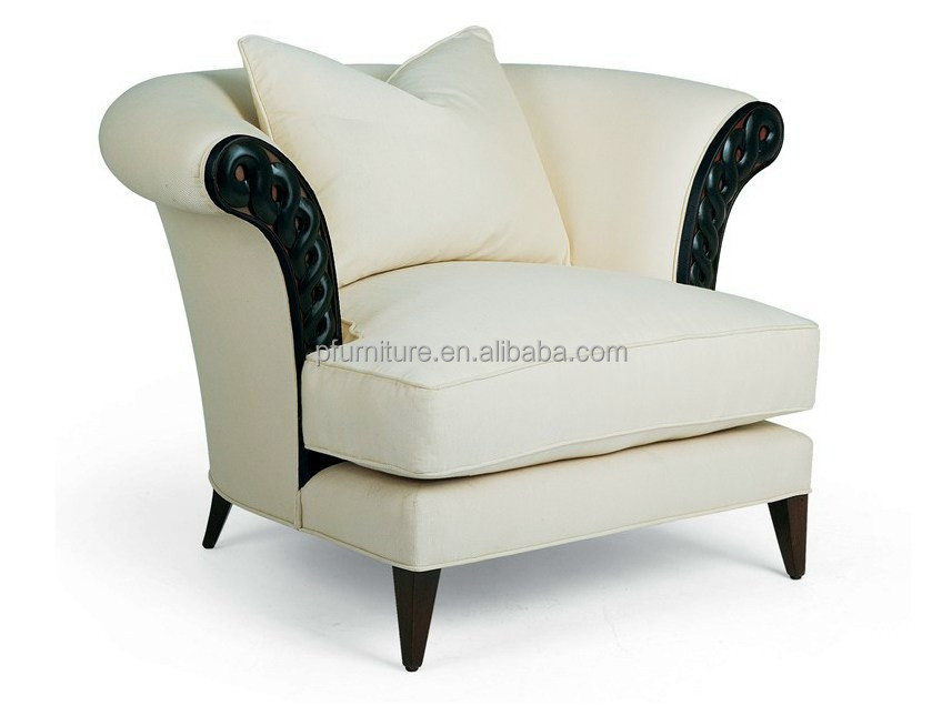 Antique living room single upholstered sofa chair for Living room upholstered chairs