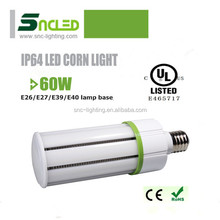 LED corn light for parking garage lighting,E26/E27/E39/E40 UL CUL SMD2835 60W dust-proof led corn light