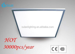 6000K CCT Cold White Home Lighting Fixture Ceiling LED Surface Panel Light 600X600 36W Silver Frame