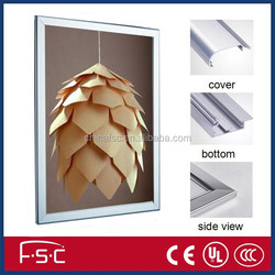 display aluminium profile snap frame for led slim light box