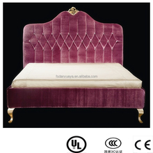 danxueya- pink adult bedroom furniture/simple design leather adult bed furniture