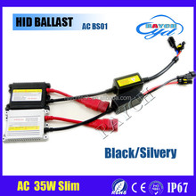 Best selling car xenon lights BS01 12V 35W ac black slivery hid slim ballast