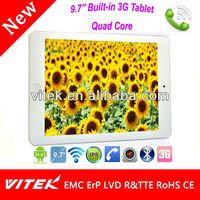 Flash 8GB Quad Core 3G Portable 9.7 inch MID