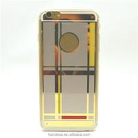 High quality ultra-thin slim Mirror Soft TPU Gel cover phone skin For apple iphone 6 4.7'' phon case