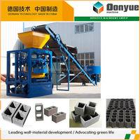 QT4-24 dongyue cement hollow block maker / small scale brick making machine