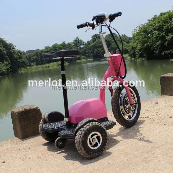 การออกแบบใหม่3- ล้อลุกขึ้นยืนจักรยานไฮบริดไฟฟ้ามอเตอร์ที่มีที่นั่งเดี่ยว