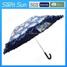 "21""*8k straight auto open kid umbrella with transparent,rain umbrella for wholesale"