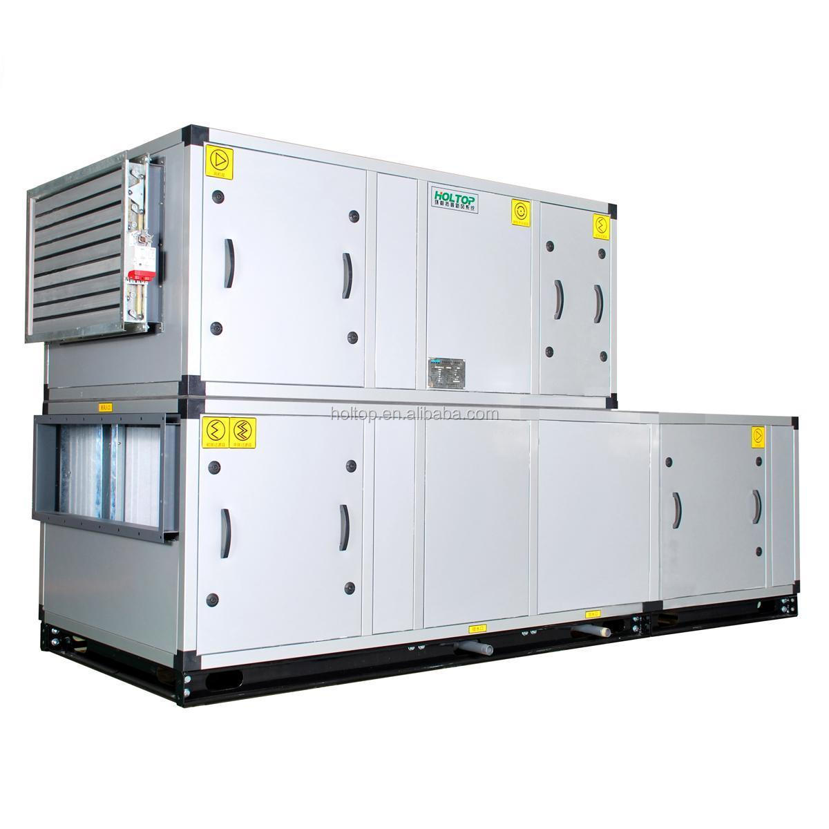 Air Temperature Units : Industrial air handling unit with heat recovery used in