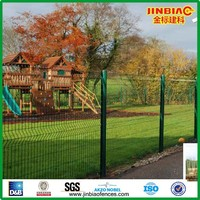High quality Anping PVC coated peach post wire mesh fence with folds