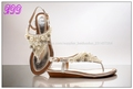 Las mujeres romanas t- sandalias de correa