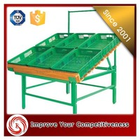 Metal / wood /plastic fruit display stand, Supermarket fruits and vegetable display stand