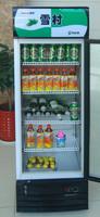 Upright beverage display cooler