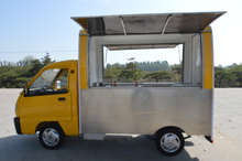 customised movable electric hot dog and coffee vending cart