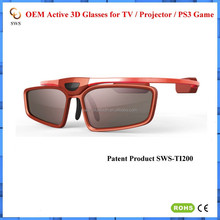 2015 Hot OEM 3D Active Shuttter Glasses with Bluetooth for 3D TV 3D Glasses for TCL China Factory 3D Glasses 3D Active Glasses
