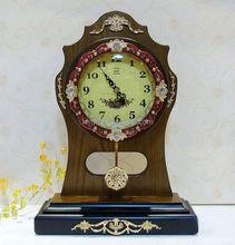Vintage Decorative Wooden Table Clock, Desk Clock, Antique Clock