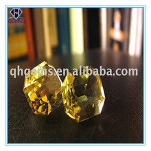 Sparking Champagne Square Shaped CZ Stone
