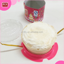 Health Cheap Food Cotton Candy Round Cup Cake Marshmallow