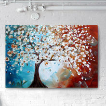 abstract magnolia flower oil painting