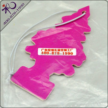 Hot-selling tree shape car paper air freshener free logo with long-lasting smell