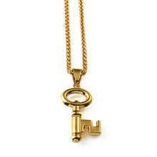 New Arrival hiphop jewelry micro Key Gold Pendant Chain hip hop bling bling necklace