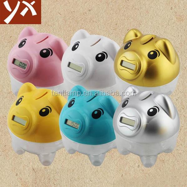 Digital coin counting jar electronic piggy bank with lcd screen buy electronic piggy bank - Counting piggy bank ...