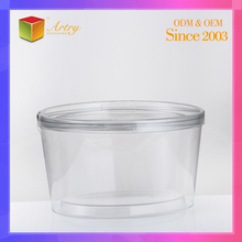 Square Plastic PET Cake box base tray with Clear PET lid