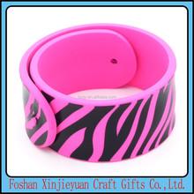 Gifts & crafts cheap silicone slap bracelet, slap band, snap bracelet