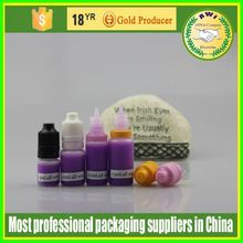 10ml black bottle purple cap gold childproof cap any cap color available