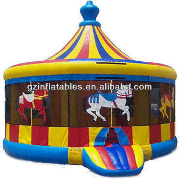 Inflable Carousel Jumper para la venta comercial niños