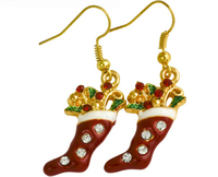 The new diamond earrings popular Christmas stocking Christmas holiday accessories personalized earrings