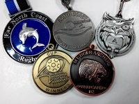 88.9mm double side design zinc alloy plating custom sports award medals for wholesale