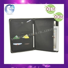 Leather Black A4 folder Organiser with Ipad pocket