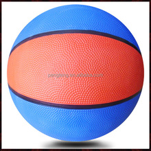 good quality blue and red custom size 5 rubber basketball without printing