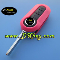Factory price 3 button remote car key cover with SIP22 folding blade for fiat key fiat 500 key cover