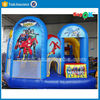 2015 new design spiderman inflatable bouncer house with slide