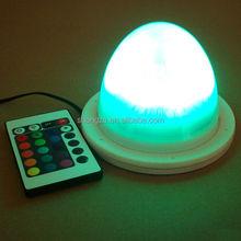 LED Round Base Wedding Table Centerpiece Vase Light