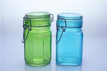 glass storage jar iron wire clip top glass jar decorative glass storage jars