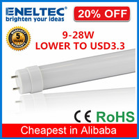 plastic cheap led lamp tube ce rohs approved 18W 4ft t8 led tube light