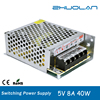 85~265V AC selected by switch DC 5v 8a 40w Single Output type non-waterproof led power supply