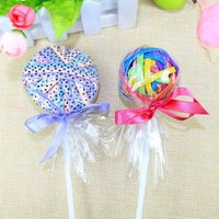 Fine lollipop girls hair accessories rubber band ball