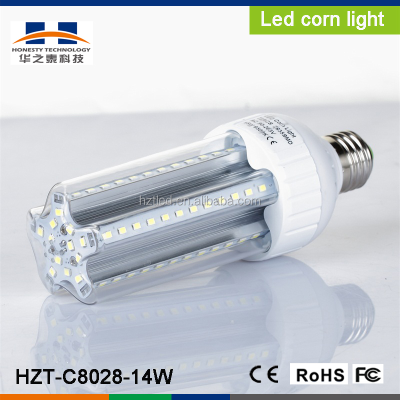 E27/E40 14W SMD2835 72pcs 1260-1330LM White low power LED corn light(AC90-260V)