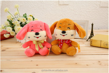 two pieces china pink and brown colour plush Dogs toys