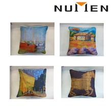 NUMEN bright color sublimation digital printed decorative pillow