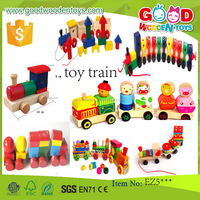 EN71 top sale pull toy vehicle wooden toy train OEM/ODM educational toy train for kids