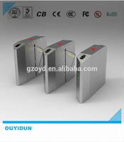 Automatic RFID Time Attendance System flap barriers turnstil gate with electronic control systems