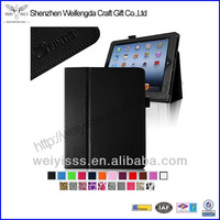 Folio Leather Case Cover for Ipad built in magnet for sleep / wake feature