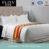 ELIYA top grade white stripe bedding sets luxury european silk sets