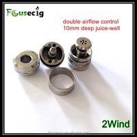 2015 new arrival 2wind RDA double airflow control atomizer genesis vaporizer