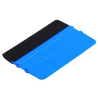 1Pcs Squeegee Car Film Tool Vinyl Blue Plastic Scraper Squeegee With Soft Felt Edge Window Glass Decal Applicator