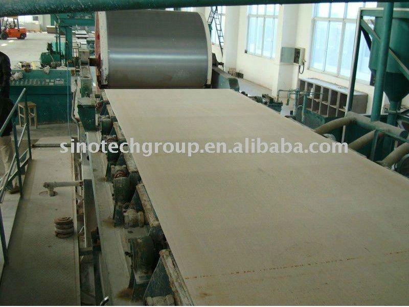 Equipo de fabricación de plancha fibrocemento para paredes
